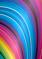 Brightly colored rainbow water fall ideal background or desktop