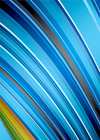 Blue background with abstract rainbow effect with gradient stripes