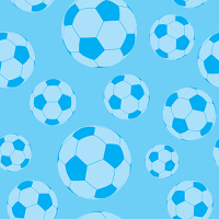 seamless football or soccer wallpaper background pattern in blue