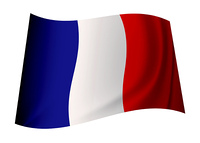 french flag icon with tricolour red white and blue colours