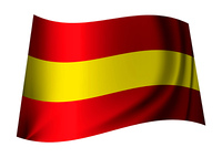 red and yellow spain flag icon for the spanish nation