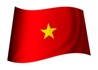 Vietnam flag concept with red background and yellow star