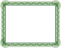 Blank guilloche style certificate with decorative border