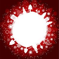 Grunge styled Christmas background