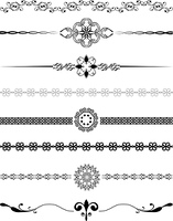 Various different designs of decorative borders