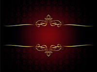 Decorative gold border