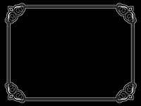 Decorative vintage style border on black background