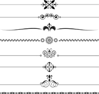 Various different designs of decorative page rules