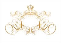 Vector ornamental elements. Suggested uses: titling frame and corner details.