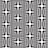 Abstract black and white seamless background with spot bulge