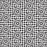 Black and white seamless spot design background with swirls