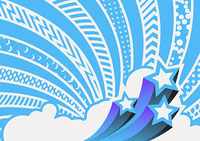Vector illustration - funky looking composition.  pattern background.