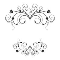 Illustration the floral frame for design card or invitation - vector