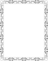 Illustration blank floral frame border. Vector
