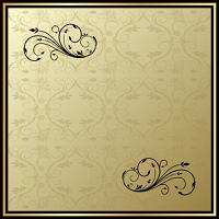 Illustration of floral vintage frame. Vector