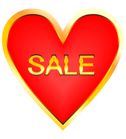 Heart for sale - vector