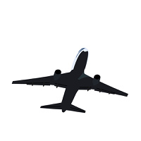 Realisic illustration airplane - vector