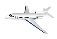 Realistic illustration aircraft is isolated on white background - vector