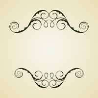 Illustration of beautifull vintage template. Vector
