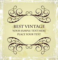 Illustration of vintage grunge template. Vector