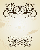 Illustration of beautiful vintage template. Vector