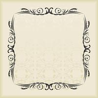 Illustration of cute floral frame. vector