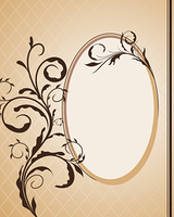 Vintage frame for design card. Vector