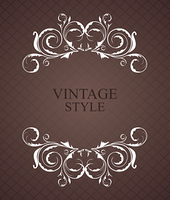 Illustration vintage frame for design card - vector