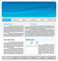 Illustration of  web site template. Vector