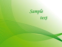 Green abstract background. Vector illustration