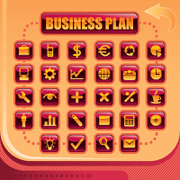 Business background with symbols