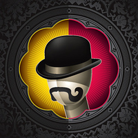 Conceptual vintage background with bowler hat