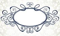 Vector illustration of ornamental original vector design element for titling frame