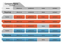 vector web navigation templates