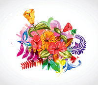 vector abstract colorful floral background