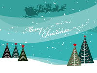 vector christmas background with trees