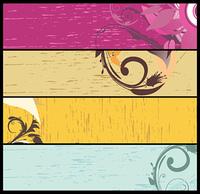 web banners vector set
