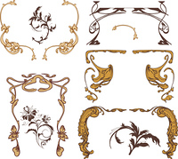 vintage floral frames