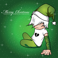emo kid on a christmas background
