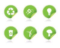 vector environmental stickers