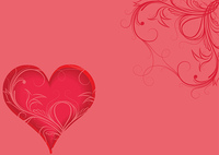 valentine illustration of a background with heart and floral