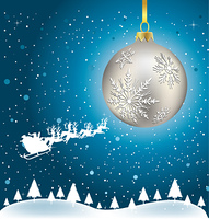 vector christmas ball background