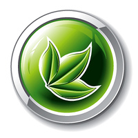 vector environmental glossy button