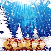 vector colorful christmas greeting card