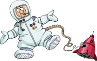 Astronaut on a white background, vector illustration