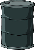 Barrel on a white background, vector illustration