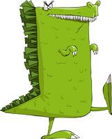 Monster on a white background, vector illustration