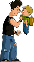 The bully and the little boy, vector