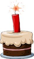 Cake on a white background, vector illustration