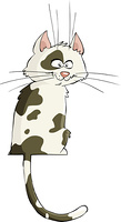 Cat on a white background, vector illustration